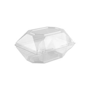 "8""x5""x4"" Corsage Box, Crystal,  Pack Size: 100"