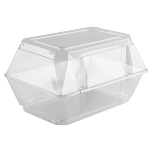 "9""x5""x6"" Corsage Box, Crystal,  Pack Size: 100"