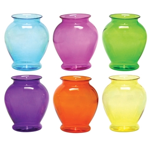 "6 1/4"" Ginger Vase, Fiesta Assortment,  Pack Size: 24"