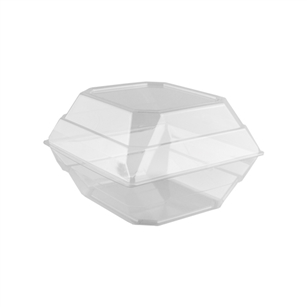 "9""x9""x6"" Orchid Box, Crystal,  Pack Size: 100"