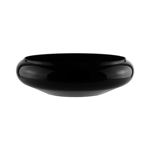 "6 3/4"" Lotus Bowl, Black,  Pack Size: 24"