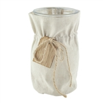 "7"" Regency Vase, Linen Jacket w/Wooden Tag,  Pack Size: 12"