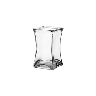 "5"" Flared Square, Crystal,  Pack Size: 18"