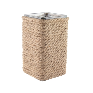 "4 1/8"" x 4 1/8"" x 8"" Square, Natural Rope,  Pack Size: 6"