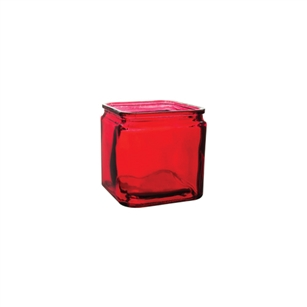 "4"" x 4"" x 4"" Square, Ruby,  Pack Size: 12"