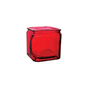 "5"" x 5"" x 5"" Square, Ruby,  Pack Size: 12"