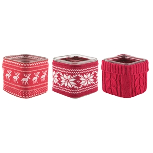 "5"" x 5"" x 5"" Square, Winter Sweater Asst.,  Pack Size: 12"