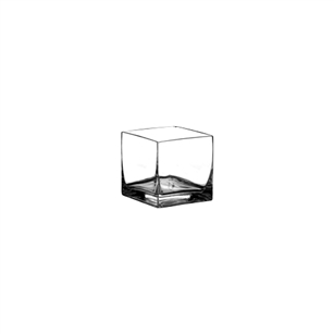 "2"" x 2"" x 2"" Square Votive, Crystal,  Pack Size: 24"