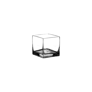 "3"" x 3"" x 3"" Square Votive, Crystal,  Pack Size: 12"