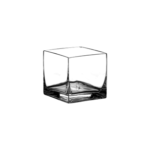 "6"" x 6"" x 6"" Square Vase, Crystal,  Pack Size: 6"