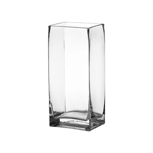 "4""x 3"" x 8 3/4"" Rectangle Vase, Crystal,  Pack Size: 6"