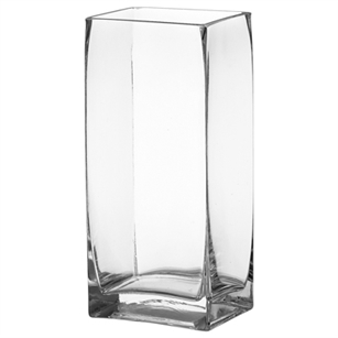 "5"" x4"" x 7 1/4"" Rectangle Vase, Crystal,  Pack Size: 6"