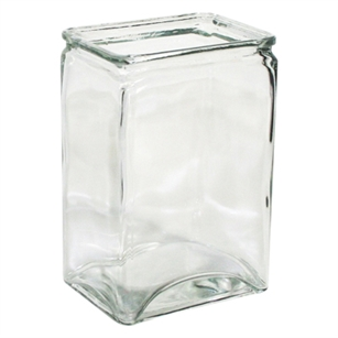 "4"" x 3"" x 6"" Rectangle Vase, Crystal,  Pack Size: 12"