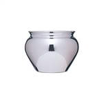 "4 1/2"" Jardiniere, Silver,  Pack Size: 12"