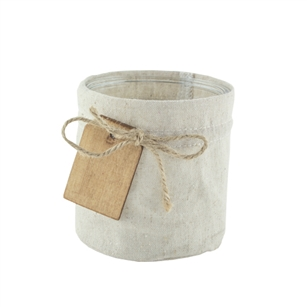 "4 5/8"" x 4 3/4"" Cylinder, Linen Jacket w/Wooden Tag,  Pack Size: 12"
