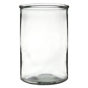 "3 7/8"" x 6"" Cylinder, Crystal,  Pack Size: 12"