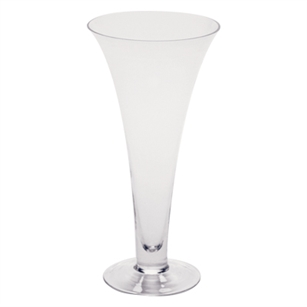 "13"" Footed Flared Vase, Crystal,  Pack Size: 2"