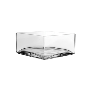 "8"" x 8"" x 4"" Square, Crystal,  Pack Size: 6"