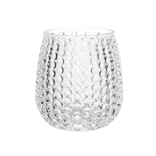 "4 1/8"" Pebble Stone Vase, Crystal,  Pack Size: 12"
