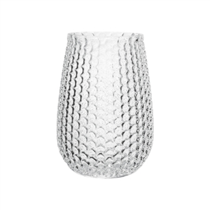 "7 5/8"" Pebble Stone Vase, Crystal,  Pack Size: 6"