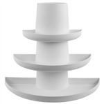 Stackable Half Tray Assortment, White,  Pack Size: 3