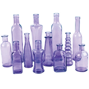 Vintage Bottle Collection, Vintage Purple,  Pack Size: 24