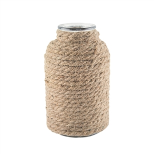 "7 7/8"" Apothecary Bottle, Natural Rope,  Pack Size: 6"