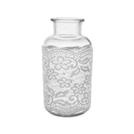 "7 7/8"" Apothecary Bottle, Vintage Lace,  Pack Size: 6"