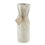 "8 1/4"" Bistro Bottle, Linen Jacket w/Wooden Tag,  Pack Size: 12"