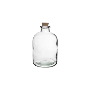 "6 3/4"" Apothecary Bottle, Crystal,  Pack Size: 12"