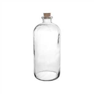 "9 3/4"" Apothecary Bottle, Crystal,  Pack Size: 9"
