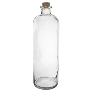 "13 1/4"" Apothecary Bottle, Crystal,  Pack Size: 9"