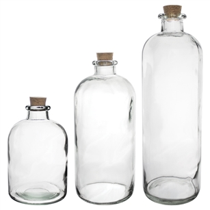 Apothecary Bottle Asst., Crystal,  Pack Size: 12