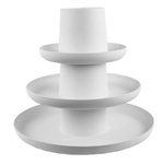 Stackable Full Tray Assortment, White,  Pack Size: 3