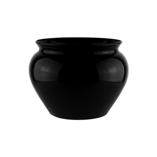 "6 1/2"" Jardiniere, Black,  Pack Size: 12"