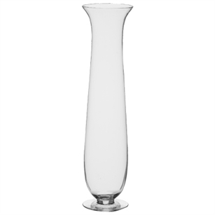 "23 1/2"" Footed Hurricane Vase, Crystal,  Pack Size: 1"