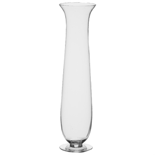 "27 1/2"" Footed Hurricane Vase, Crystal,  Pack Size: 1"