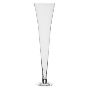 "27 1/2"" Footed Flared Vase, Crystal,  Pack Size: 1"