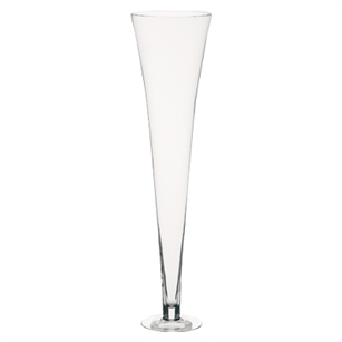"39 1/2"" Footed Flared Vase, Crystal,  Pack Size: 1"