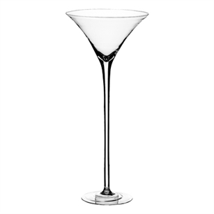 "19 1/2"" Martini Glass, Crystal,  Pack Size: 1"