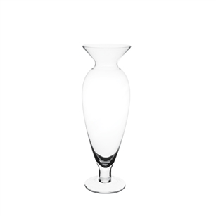 "19 3/4"" Julia Vase, Crystal,  Pack Size: 4"