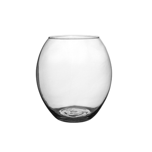 "6"" Oval Bubble Vase, Crystal,  Pack Size: 12"