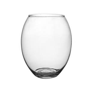 "8"" Oval Bubble Vase, Crystal,  Pack Size: 6"