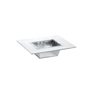 "9 1/2"" Tin Tray with liner, Galvanized,  Pack Size: 9"