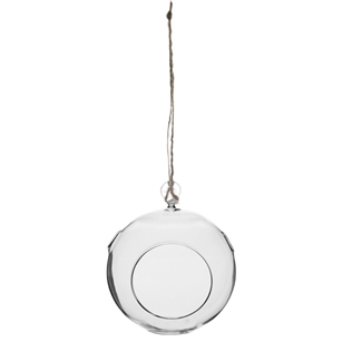 "7"" Round Hanging Terrarium, Crystal,  Pack Size: 6"