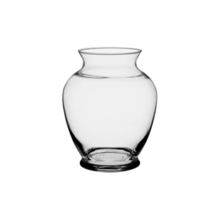 "6 1/4"" Ginger Vase, Crystal,  Pack Size: 12"