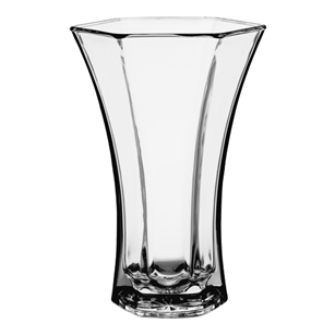"10 3/8"" Flared Vase, Crystal,  Pack Size: 6"
