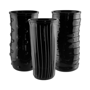 "8 1/2"" Rose Vase Asst., Black,  Pack Size: 12"