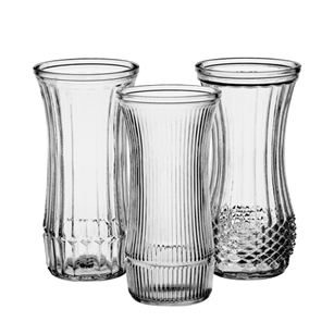 "8 1/2"" Rose Vase Asst, Crystal,  Pack Size: 24"