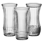 "9 3/4"" Rose Vase Asst, Crystal,  Pack Size: 12"